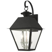 Livex 27218-04 Mansfield 3 Light 22 inch Black Outdoor Wall Lantern