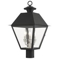 Livex 27219-04 Mansfield 3 Light 22 inch Black Outdoor Post Top Lantern