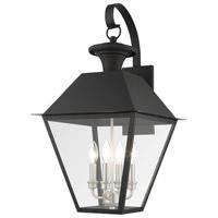 Livex 27222-04 Mansfield 4 Light 28 inch Black Outdoor Wall Lantern