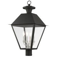 Livex 27223-04 Mansfield 4 Light 28 inch Black Outdoor Post Top Lantern