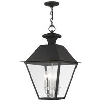 Livex 27224-04 Mansfield 4 Light 15 inch Black Outdoor Pendant Lantern
