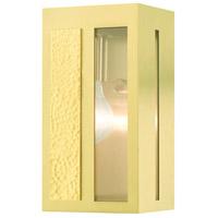 Livex 27411-12 Lafayette 1 Light 9 inch Satin Brass Outdoor Wall Lantern