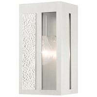 Livex 27411-91 Lafayette 1 Light 9 inch Brushed Nickel Outdoor Wall Lantern