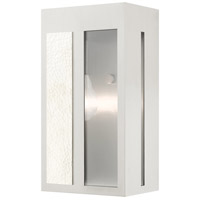 Livex 27412-91 Lafayette 1 Light 11 inch Brushed Nickel Outdoor Wall Lantern