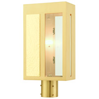 Livex Lighting 27416-12 Lafayette 1 Light 17 inch Satin Brass Outdoor Post Top Lantern