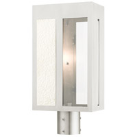 Livex Lighting 27416-91 Lafayette 1 Light 17 inch Brushed Nickel Outdoor Post Top Lantern