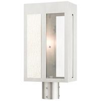 Livex 27416-91 Lafayette 1 Light 17 inch Brushed Nickel Outdoor Post Top Lantern