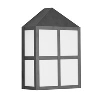 Outdoor Basics 2 Light 12 inch Black Outdoor Wall Lantern