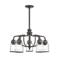 Lawrenceville 5 Light 24 inch Bronze Dinette Chandelier Ceiling Light