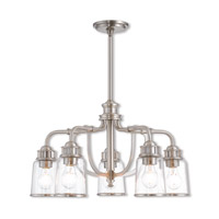 Lawrenceville 5 Light 24 inch Brushed Nickel Dinette Chandelier Ceiling Light