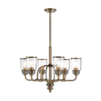 Lawrenceville 6 Light 26 inch Antique Brass Chandelier Ceiling Light