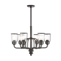 Livex 40026-07 Lawrenceville 6 Light 26 inch Bronze Chandelier Ceiling Light