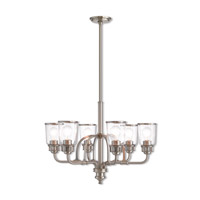 Livex 40026-91 Lawrenceville 6 Light 26 inch Brushed Nickel Chandelier Ceiling Light
