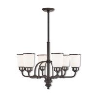 Livex 40027-07 Lawrenceville 6 Light 26 inch Bronze Chandelier Ceiling Light