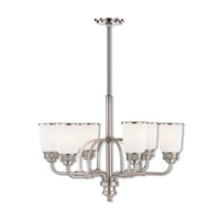 Lawrenceville 6 Light 26 inch Brushed Nickel Chandelier Ceiling Light