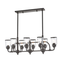 Lawrenceville 8 Light 40 inch Bronze Linear Chandelier Ceiling Light