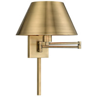 Signature 25 inch 100 watt Antique Brass Swing Arm Wall Lamp Wall Light