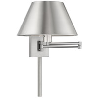 Livex 40030-91 Signature 25 inch 100 watt Brushed Nickel Swing Arm Wall Lamp Wall Light