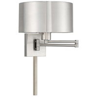 Livex 40034-91 Signature 24 inch 100 watt Brushed Nickel Swing Arm Wall Lamp Wall Light
