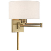 Livex 40037-01 Allison 24 inch 100.00 watt Antique Brass Swing Arm Wall Lamp Wall Light