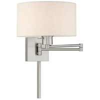 Livex 40037-91 Signature 24 inch 100 watt Brushed Nickel Swing Arm Wall Lamp Wall Light