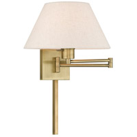 Livex 40038-01 Allison 25 inch 100.00 watt Antique Brass Swing Arm Wall Lamp Wall Light