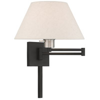 Livex 40038-04 Allison 25 inch 100.00 watt Black Swing Arm Wall Lamp Wall Light