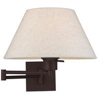 Livex 40038-07 Allison 25 inch 100.00 watt Bronze Swing Arm Wall Lamp Wall Light