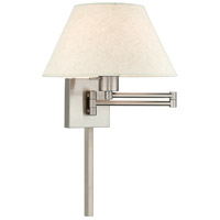 Livex 40038-91 Signature 25 inch 100 watt Brushed Nickel Swing Arm Wall Lamp Wall Light
