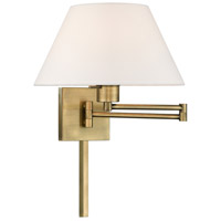 Livex 40039-01 Signature 25 inch 100 watt Antique Brass Swing Arm Wall Lamp Wall Light