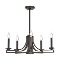 Trumbull 6 Light 24 inch Bronze Chandelier Ceiling Light