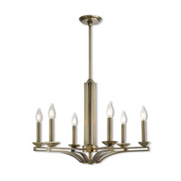Trumbull 6 Light 26 inch Antique Brass Chandelier Ceiling Light