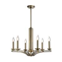 Livex 40056-01 Trumbull 6 Light 26 inch Antique Brass Chandelier Ceiling Light