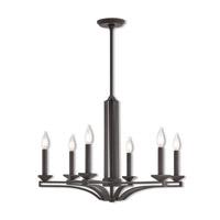 Livex 40056-07 Trumbull 6 Light 26 inch Bronze Chandelier Ceiling Light