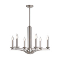 Trumbull 6 Light 26 inch Brushed Nickel Chandelier Ceiling Light