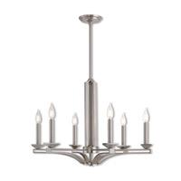 Livex 40056-91 Trumbull 6 Light 26 inch Brushed Nickel Chandelier Ceiling Light