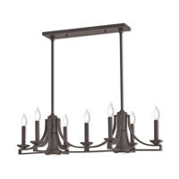 Trumbull 9 Light 36 inch Bronze Linear Chandelier Ceiling Light