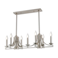 Trumbull 9 Light 36 inch Brushed Nickel Linear Chandelier Ceiling Light