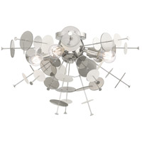 Livex 40070-05 Circulo 4 Light 24 inch Polished Chrome Flush Mount Ceiling Light