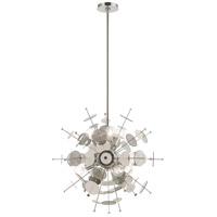 Livex 40074-05 Circulo 6 Light 24 inch Polished Chrome Pendant Chandelier Ceiling Light