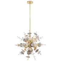 Livex 40074-12 Circulo 6 Light 24 inch Satin Brass Pendant Chandelier Ceiling Light