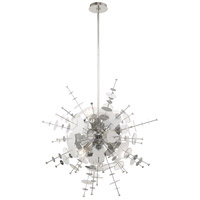 Livex 40076-05 Circulo 6 Light 30 inch Polished Chrome Pendant Chandelier Ceiling Light