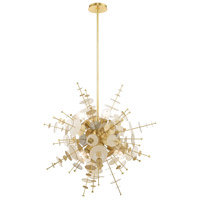 Livex 40076-12 Circulo 6 Light 30 inch Satin Brass Pendant Chandelier Ceiling Light