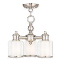 Livex 40203-91 Middlebush 3 Light 16 inch Brushed Nickel Dinette Chandelier Ceiling Light