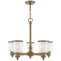 Livex 40205-01 Middlebush 5 Light 25 inch Antique Brass Chandelier Ceiling Light