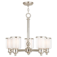 Livex 40205-35 Middlebush 5 Light 25 inch Polished Nickel Chandelier Ceiling Light