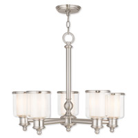 Livex 40205-91 Middlebush 5 Light 25 inch Brushed Nickel Chandelier Ceiling Light