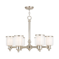 Livex 40206-35 Middlebush 6 Light 28 inch Polished Nickel Chandelier Ceiling Light