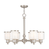 Livex 40206-91 Middlebush 6 Light 28 inch Brushed Nickel Chandelier Ceiling Light