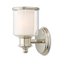 Livex 40211-35 Middlebush 1 Light 6 inch Polished Nickel Wall Sconce Wall Light